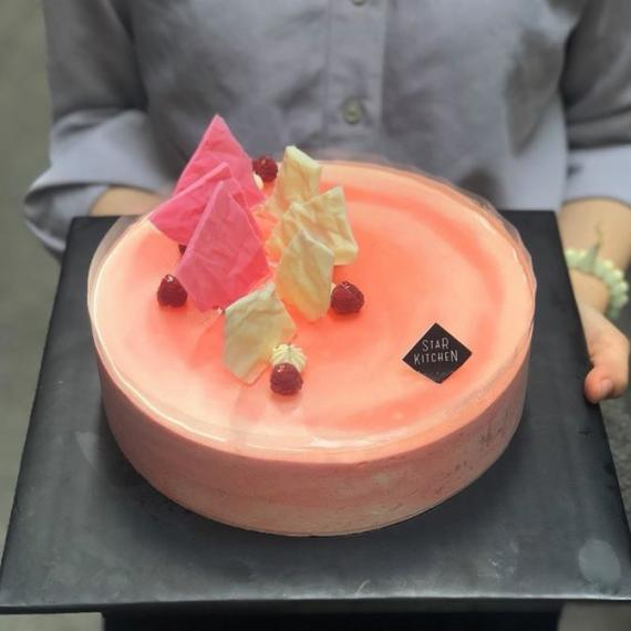 Lychee Raspberry Mousse