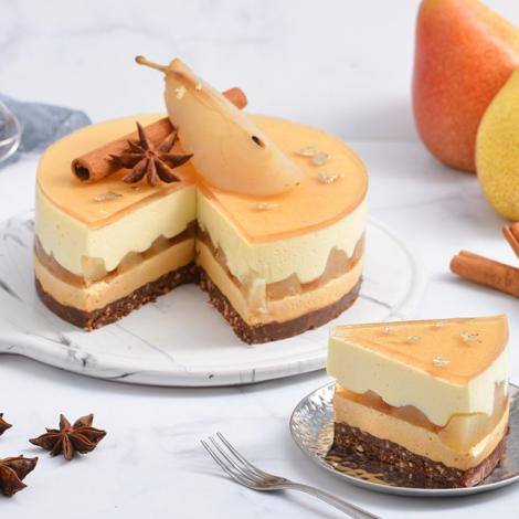 Pear Caramel Mousse