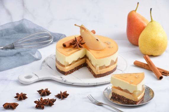 Pear Caramel Mousse Star Kitchen