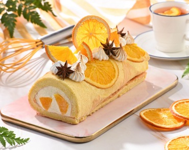Orange Vanilla Roll cake