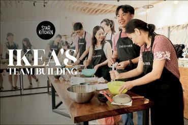 Hoạt động team building học làm bánh công ty IKEA