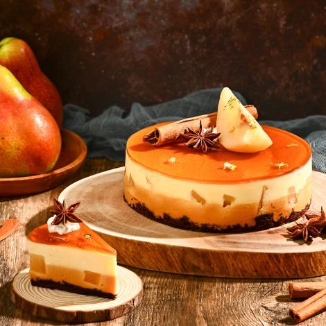 Pear Caramel Mousse cake